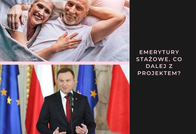 Polki mogłyby pobierać świadczenie emerytalne już po przepracowaniu 35 lat, a Polacy odpowiednio pięć lat później. To sprawi, że wiek emerytalny w Polsce się obniży. Trwają pracę nad wprowadzeniem zmian w emeryturach. Przed wyborami między innymi prezydent Andrzej Duda obiecał wprowadzenie emerytur stażowych.Co trzeba wiedzieć o projekcie? Czytaj w dalszej części galerii >>>