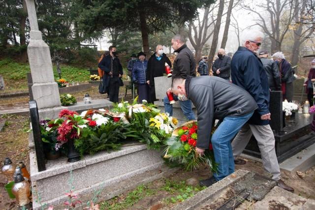 Pogrzeb byłego piłkarza Garbarni Krzysztofa Bułata na cmentarzu Podgórskim w Krakowie