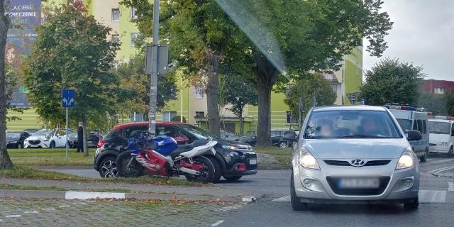 Kolizja na ul. Przyjaciół Ronda w Szczecinie