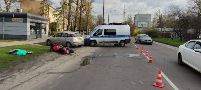 Po wypadku na ul. Tatrzańskiej.