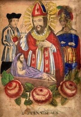 Staloryt ręcznie kolorowany z poł. XIX w. ze zbiorów Mikołaja Korneckiego Fot. archiwum