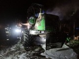 Pożar ciągnika w Dobrowie koło Białogardu. Maszyna była warta milion złotych!
