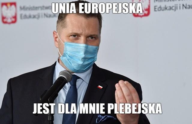 """Minister Przemysław Czarnek nazwał UE """"tworem niepraworządnym"""". Co na to internauci? Zobacz memy na kolejnych slajdach galerii"""