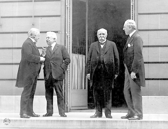 Wielka Czwórka - Lloyd George, Orlando, Clemenceau i Wilson.