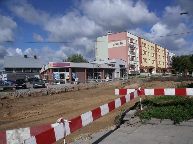 Już pod koniec września przy ulicy Głównej w Łapach powstanie parking