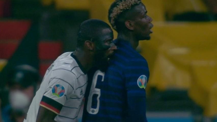 Euro 2020. Antonio Rüdiger ugryzł Paula Pogbę podczas meczu Francja - Niemcy. Później go przeprosił
