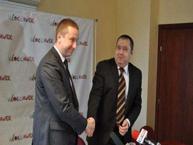 Od lewej radny Jan Stocki i wiceprezydent Włocławka Jacek Kuźniewicz