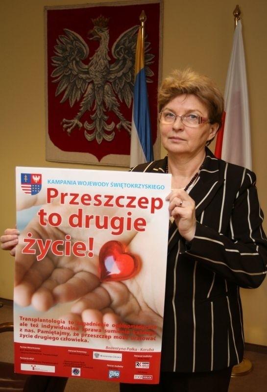 Wojewoda świętokrzyski Bożentyna Pałka-Koruba będzie przekonywać z ekspertami i współpracownikami kampanii, że przeszczep to drugie życie.