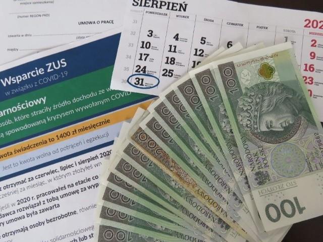 Dodatek solidarnościowy wynosi 1400 złotych i wnioski o ten rodzaj wsparcia można składać tylko do końca sierpnia