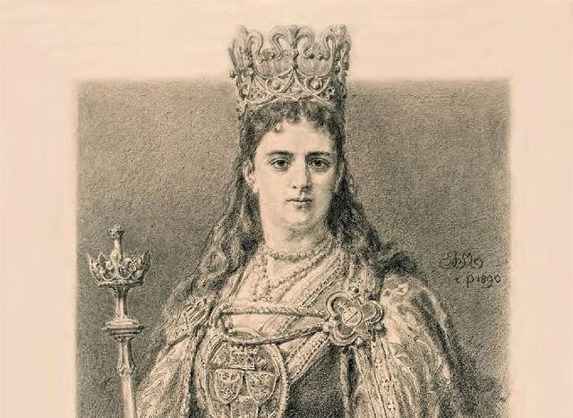 Królowa Jadwiga według Jana Matejki.