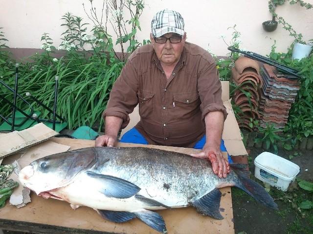 Kazimierz Kozłowski tę tołpygę złowił na ZEK-ach koło Nowogrodu Bobrzańskiego. Ryba ważyła prawie 23 kilogramy!