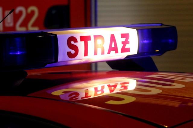 Pożar stodoły w Grodzisku Wielkopolskim