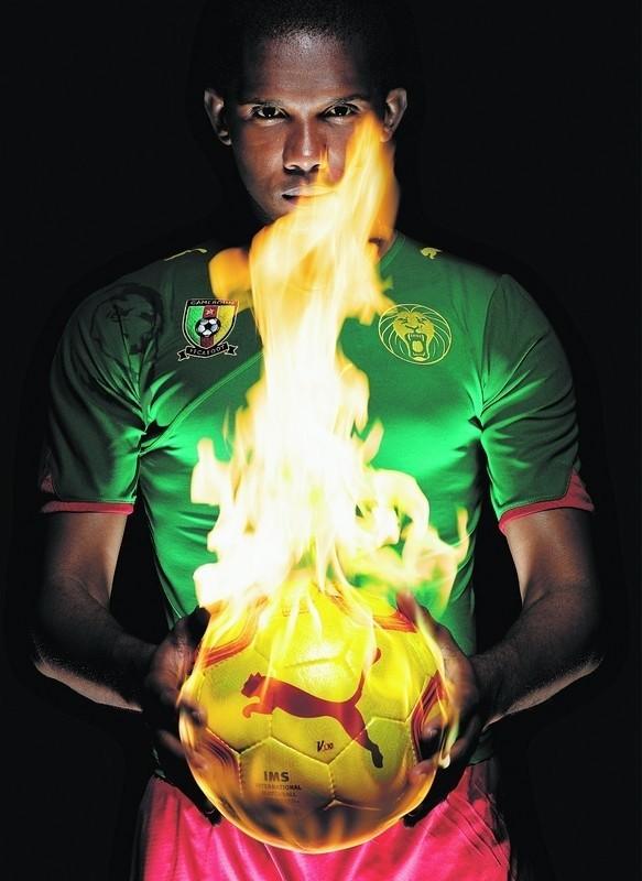 Samuel Eto'o, reprezentant Kamerunu, będzie twarzą słupskiego Amber Cup.