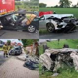 Wypadki drogowe na terenie województwa wielkopolskiego w maju 2021. ZOBACZ ZDJĘCIA