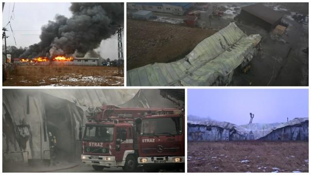 Pożar hali w Niepołomicach
