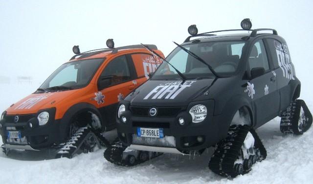 Śnieżno – narciarska panda. Fot. Krzysztof Łokaj