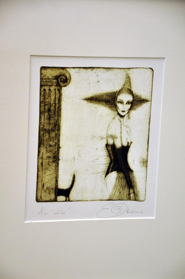 Jedna z prac  Elżbiety Radzikowskiej, którą oglądać możemy na wystawie w PBG Gallery.