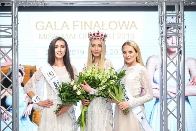 Miss Małopolski 2019: Sylwia Rojek z Krakowa, I wicemiss Natalia Radwan z Krakowa, II wicemiss Wiktoria Mazur z Gosławic.