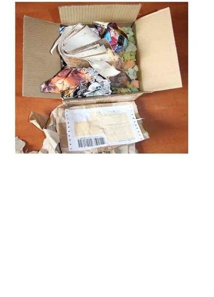 Oto zawartość paczki, w której miał być telefon komórkowy