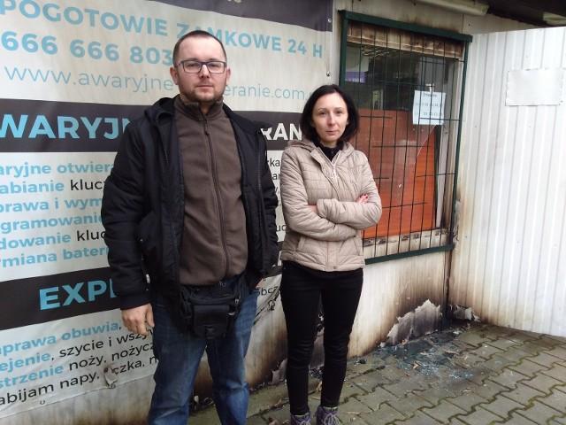 Krystian Zaremba i  Jolanta Chorągwicka liczą, że policji uda się złapać ich prześladowcę