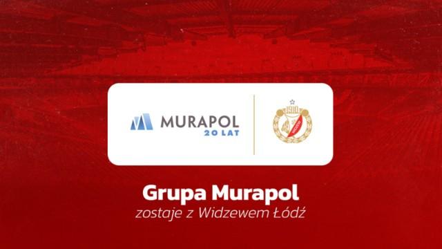 Firma Murapol pozostaje sponsorem Widzewa