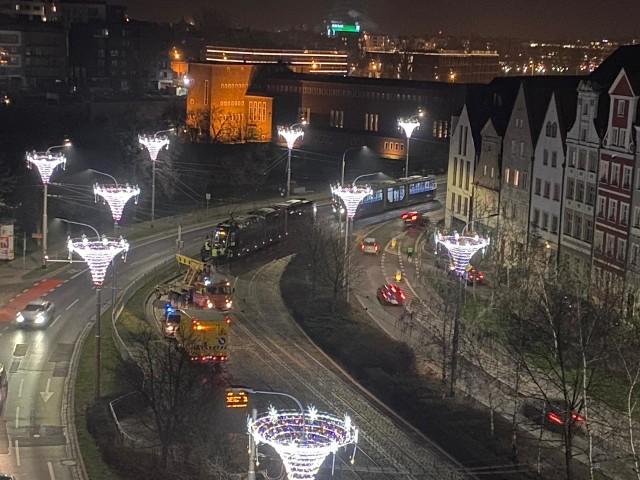Wrocław, tramwaj, wykolejenie.