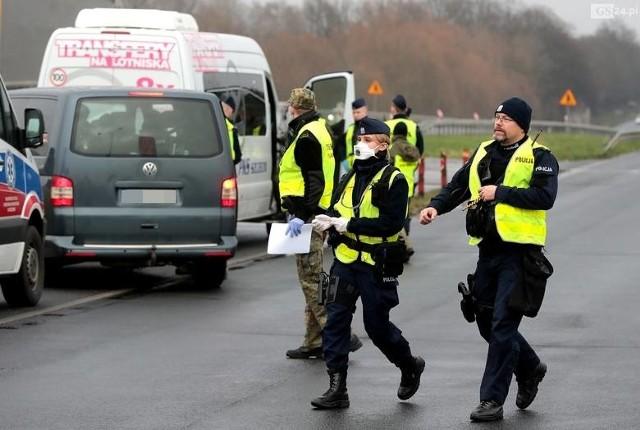 Kontrole sanitarne na granicy w Kołbaskowie