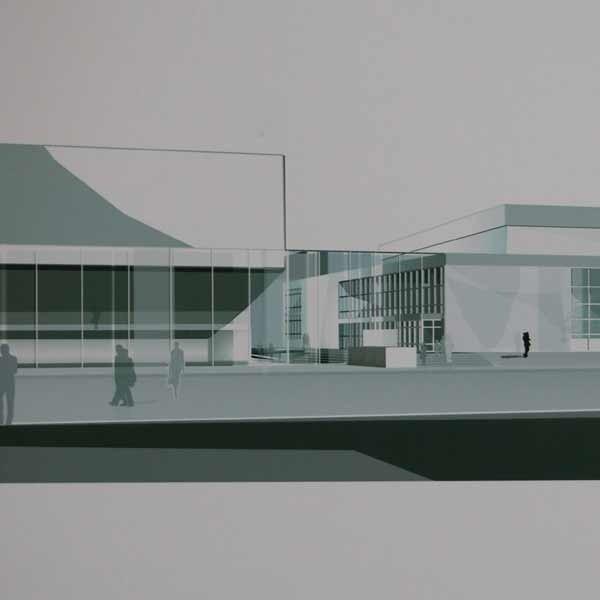 Tak będzie wyglądał przyszły Teatr Muzyczny w Rzeszowie. Powstanie na obecnym parkingu przed Filharmonią Rzeszowską.