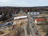 Węzeł Łękno w Szczecinie. Widać już konstrukcję nowego wiaduktu. Co jeszcze słychać na budowie? ZDJĘCIA