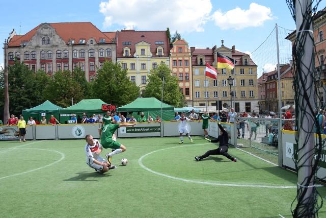 Mecz drużyny Brat Albert II z reprezentacją Niemiec. Wrocławianie wygrali 6:4.
