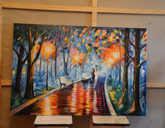Malunki na panelach grzewczychArtystka tworzy malunki na panelach grzewczych (ZDJĘCIA)