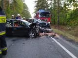 Wypadek w Anielinie w gminie Poświętne. Pięć osób w szpitalach. Sprawca wypadku miał 4 promile alkoholu [ZDJĘCIA]