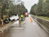 Ciemnoszyje. Wypadek na DK 65. Trzy osoby poszkodowane. Droga była zablokowana [ZDJĘCIA]