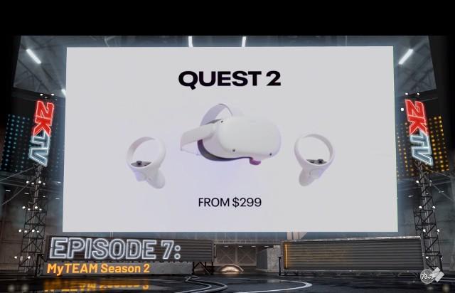 Reklama gogli Oculus Quest 2 w grze NBA 2K21.