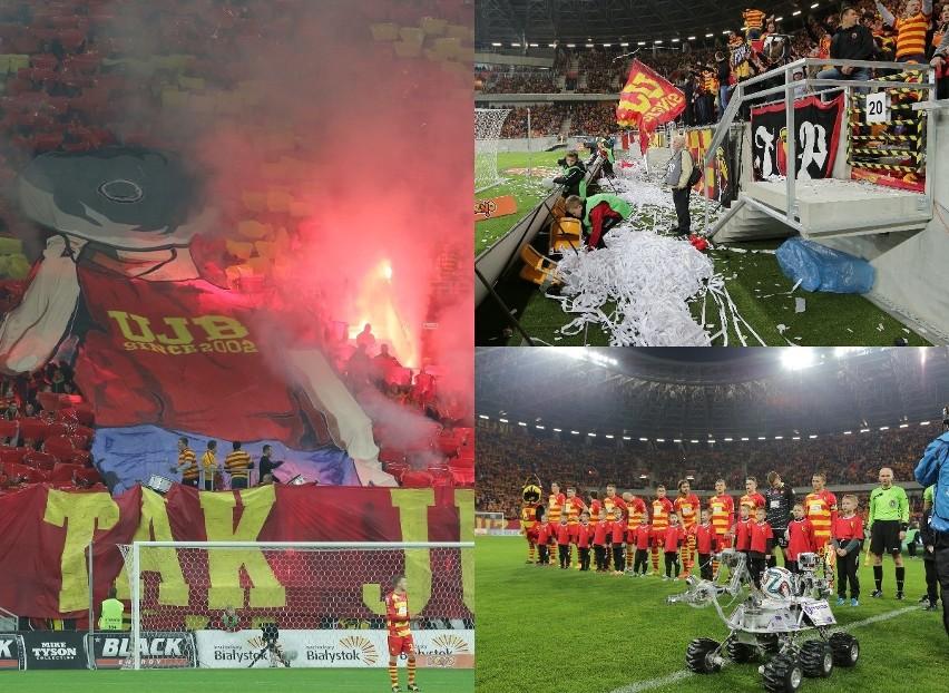 Niesamowita oprawa, pełny stadion i pięć bramek Jagiellonii....