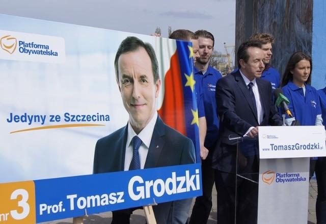 """Hasło wyborcze Tomasza Grodzkiego """"Jedyny ze Szczecina"""" mija się z prawdą - mówił Chruszcz i zapowiada odwołanie od wyroku."""