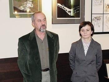 Ewa Majerczak z Januszem Tyburem, prezesem Stowarzyszenia Artystów Pienińskich