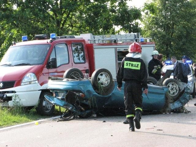 Wypadek w Malkini Dolnej. 3 osoby w szpitalu.