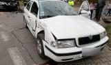 Wypadek w Jastrzębiu-Zdroju: 59-latek z nissana zasnął za kierownicą, zjechał na przeciwległy pas i uderzył w skodę. Zobaczcie zdjęcia