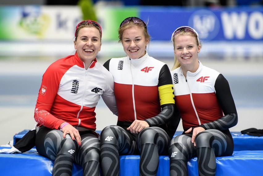 Natalia Czerwonka, Karolina Gąsecka i Karolina Bosiek chcą powalczyć w Heerenveen o dobre miejsce w wyścigu drużynowym