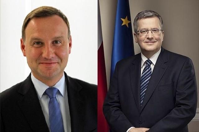 Andrzej Duda i Bronisław Komorowski wezmą udział w drugiej turze wyborów