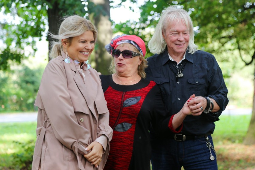 Halina z Martą i Zdzisławem