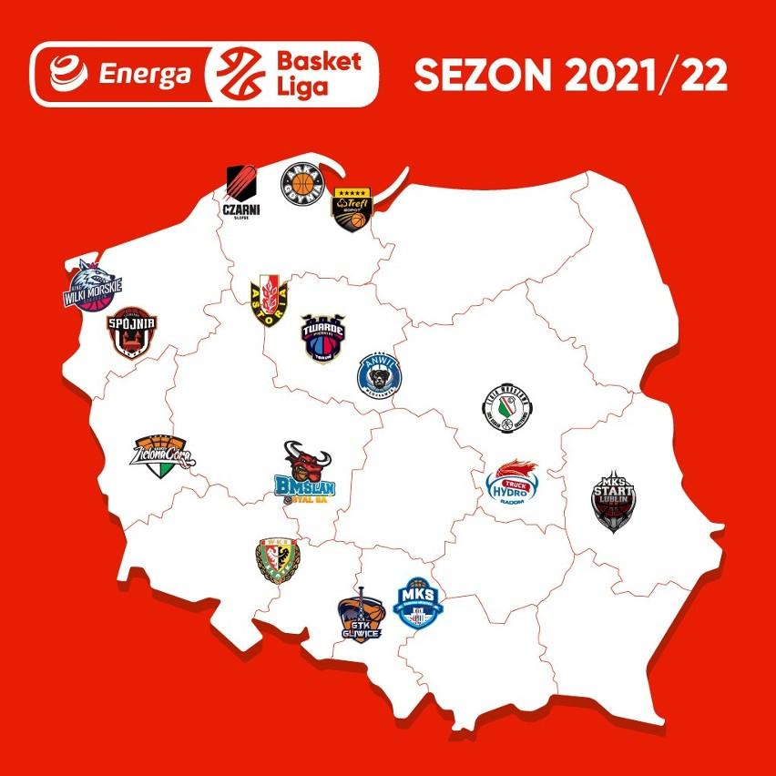 Koszykarze Energa Basket Ligi rywalizację w sezonie 2021/22...
