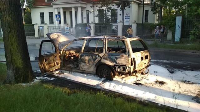 Pożar auta przy ul. Bydgoskiej