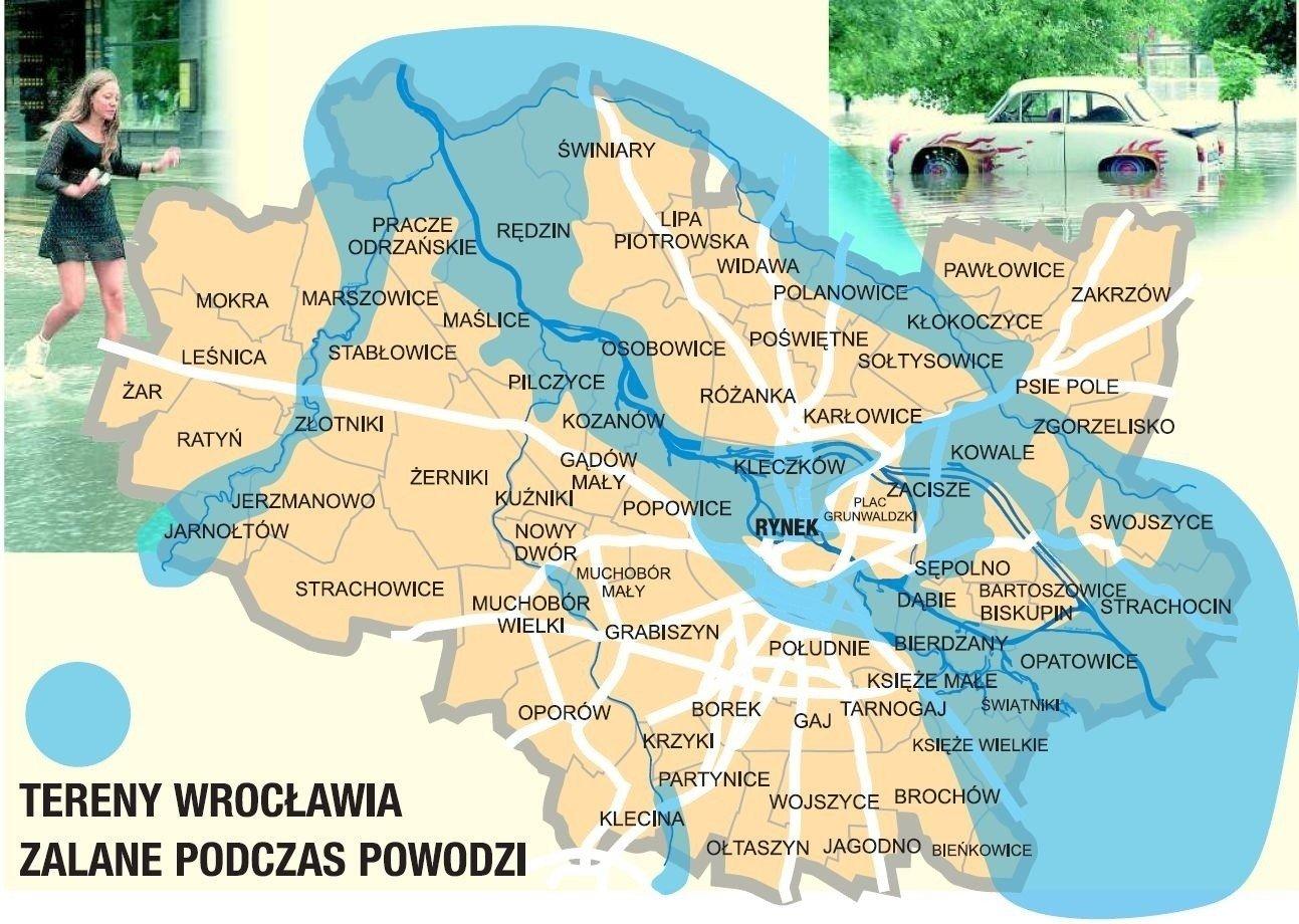 Tak Zalany Byl Wroclaw Mapa Powodz Godzina Po Godzinie Gazeta