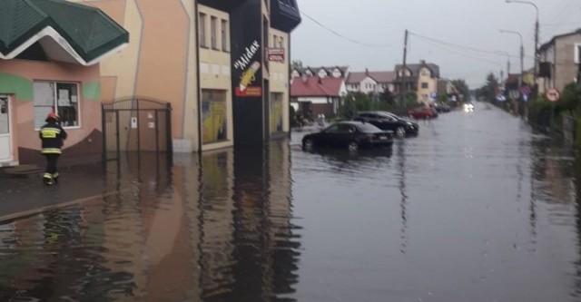 Zalane ulice w Augustowie