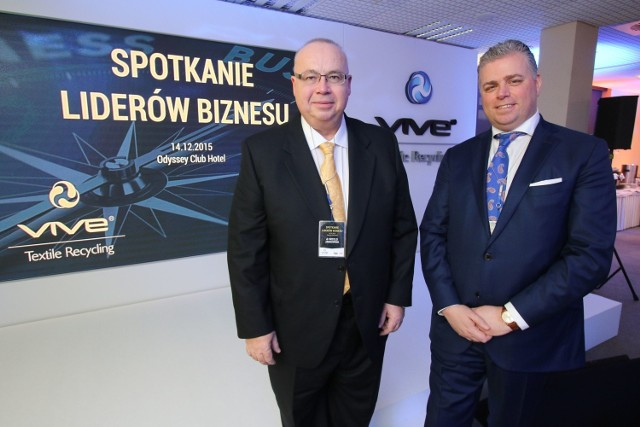 Witold Jankowski, preses ICAN Institute i Bertus Servaas, prezes Vive Textile Recyccling i na spotkaniu w Hotelu Odyssey.