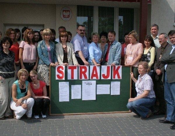 Strajkowano w Zespole Szkół Centrum  Kształcenia Praktycznego w Grubnie