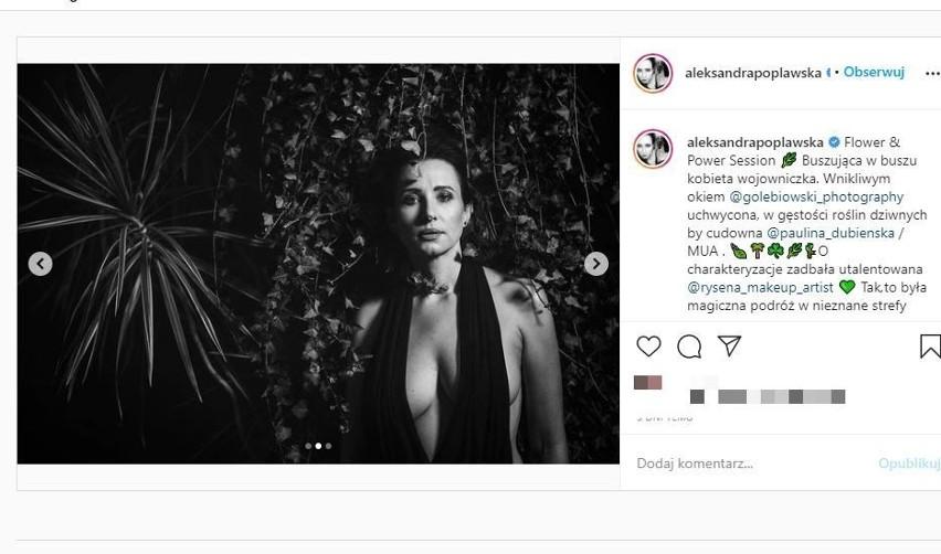 Aleksandra Popławska nago! Eksponuje seksowne kształty. Wygląda zjawiskowo! ZDJĘCIA 15.09.2021