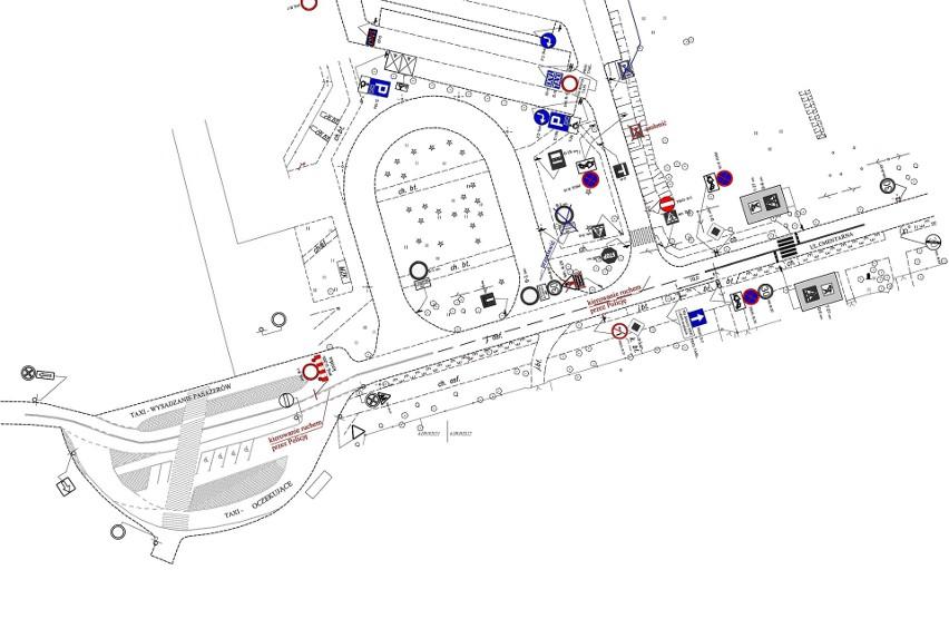 Mapa zmian w organizacji ruchu w rejonie cmentarza...